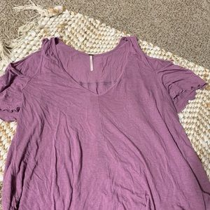 Free people cold shoulder purple top size medium